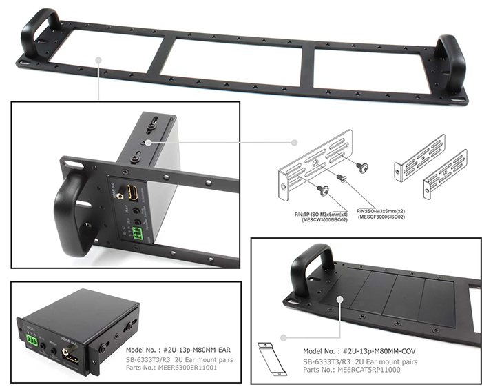 6001HDBaseT Transmitter and Receiver EXTENDER PANEL